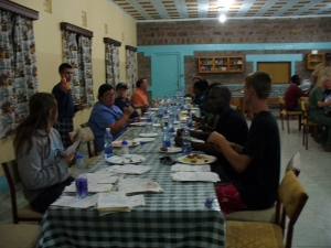 missions-Golgatha-House-dining-room-with-TLM-and-Kenyan-medical-team